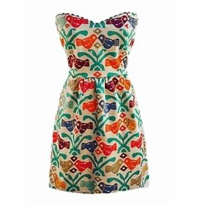 Judith March Strapless Dress with Pockets